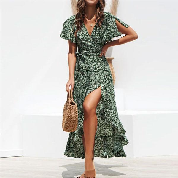 robe-fleurs-vert