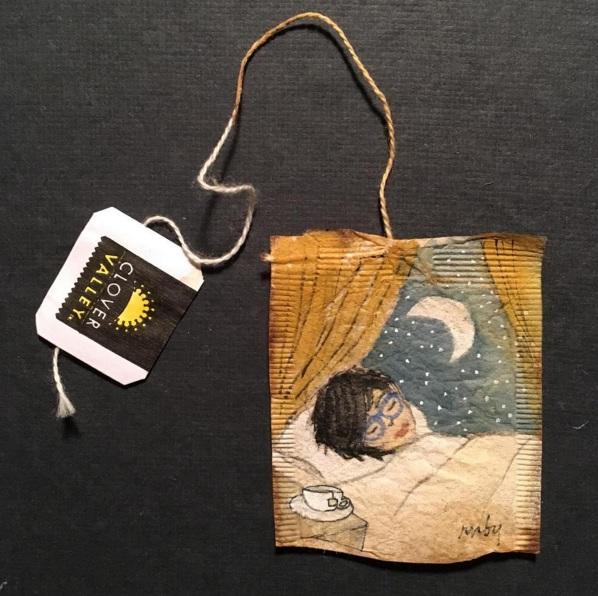 Elle dessine sur des sachets de thé usagés et le résultat est magnifique | #12