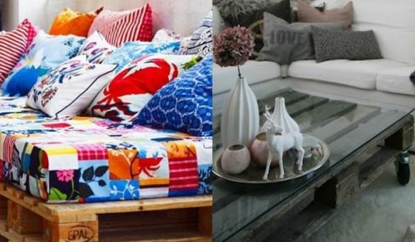 52 id es de meubles en palettes en bois so busy girls. Black Bedroom Furniture Sets. Home Design Ideas