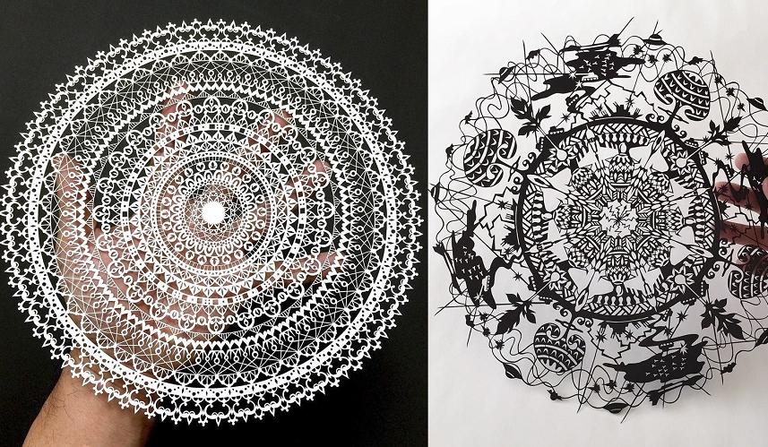 cet artiste japonais d coupe des oeuvres de papier incroyablement d taill es et magnifiques so. Black Bedroom Furniture Sets. Home Design Ideas