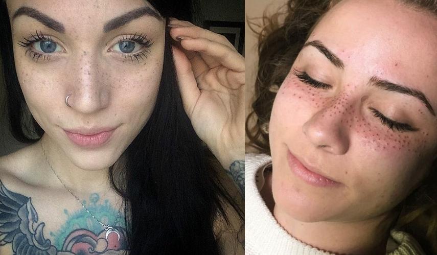 la derni re tendance tatouage se faire tatouer des taches de rousseur sur le visage so. Black Bedroom Furniture Sets. Home Design Ideas
